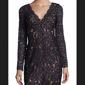 Vera Wang Black Lace Cocktail Dress NWT Size 6